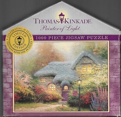 HEATHER'S HUTCH BY THOMAS KINKADE - Complete - PUZZLE