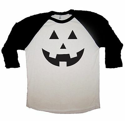 raglan pumpkin face carving halloween shirt funny costume idea tee shirt ghost t