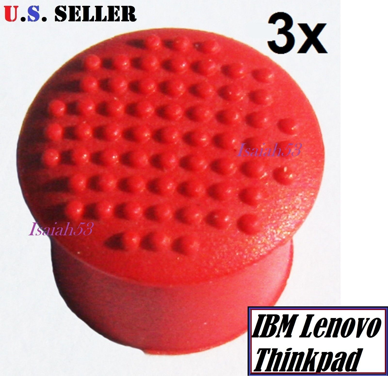 soft 3x IBM Thinkpad Laptop Mouse TrackPoint Red Cap