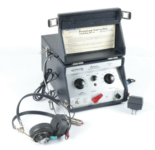 Ambco Model 610 Otometer Screening Audiometer Portable Ear Hearing Tester