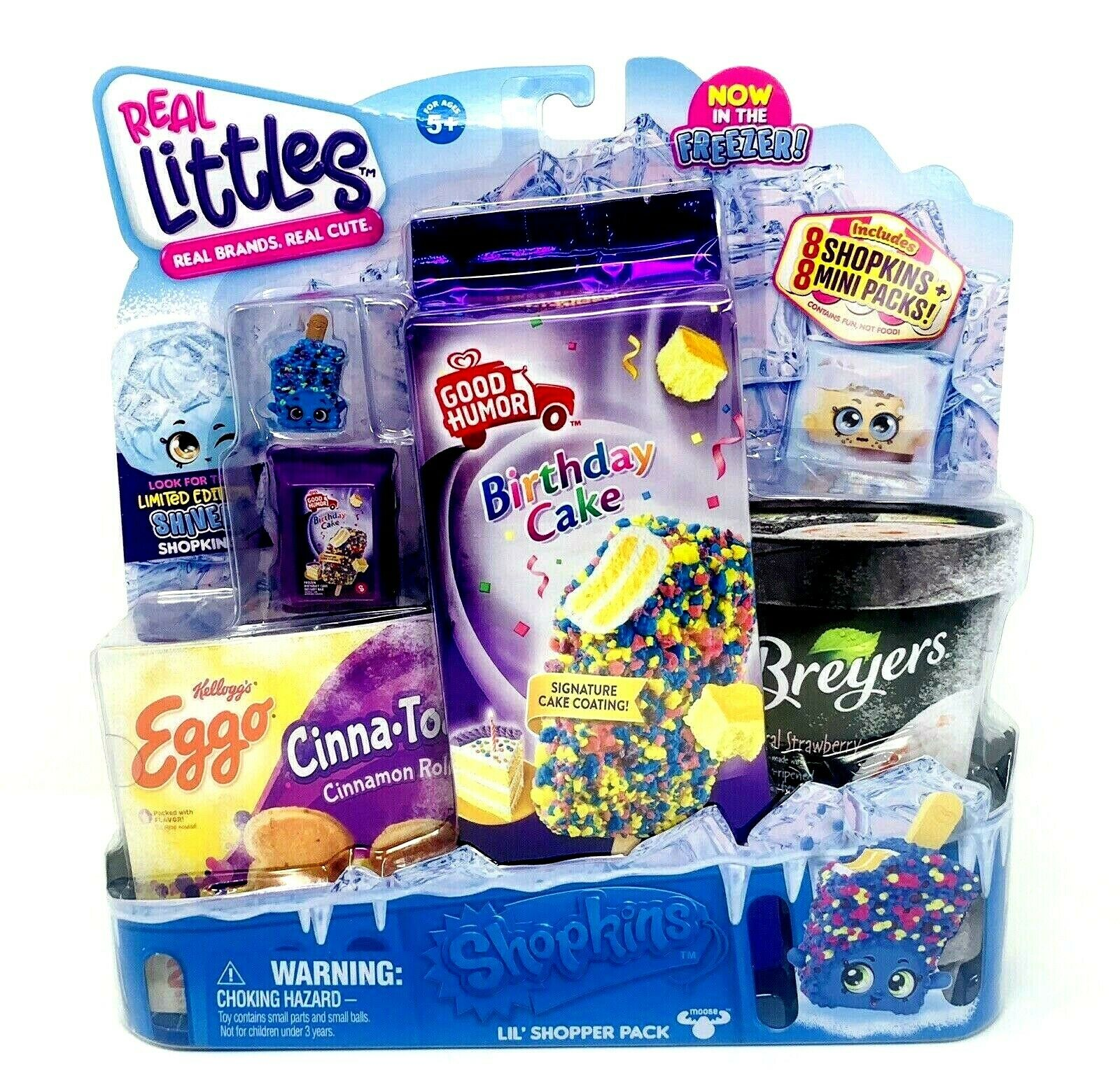 Shopkins In The Freezer Real Littles Shopper Pack Good Humor Birthday Cake NIB - $22.94