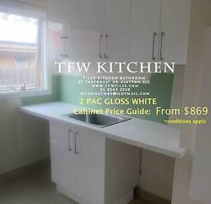Polyurethane Gloss White Door+Complete Laundry Cabinets+Kickboard Clayton Monash Area Preview