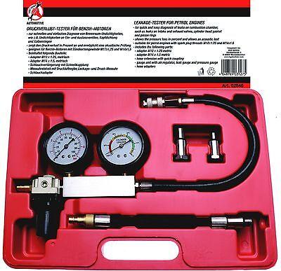 Druckverlust Tester für Benzinmotoren Testgerät Motor Druckverlust Messuhr 62646