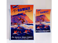 """#4743 Hawaii Airline Travel Vintage Tag Phone 1x4/"""" Luggage Label Decal Sticker"""