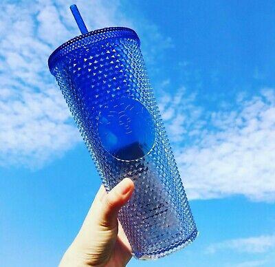 Starbucks Korea 2021 Shine Blue Bling Stud Cold Cup 710ml / 24oz Summer Limited