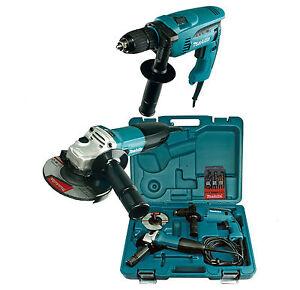 Makita Combo-Kit DK1185 Schlagbohrmaschine HP1641 + Winkelschleifer GA5030 neu