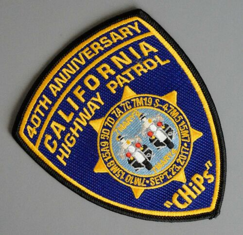 CHiPs 40th Anniversary California Highway Patrol Patch