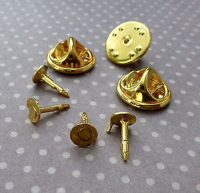 20 Tie Tacks Butterfly pinch back Pins Clutch Back Lapel Scatter Pin Gold tone