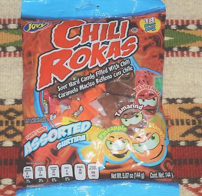 Chili Rokas Mexican Sour Hard Candy Filled With Chili - Mexican Chili Powder