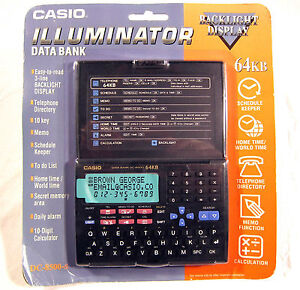 NEW Sealed Casio Illuminator DC-8500-S Data Bank Business Organizer 64KB