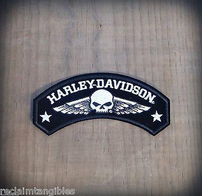 Harley Davidson Authentic Patch - Willie G Skull Rocker - Medium Emblem Badge