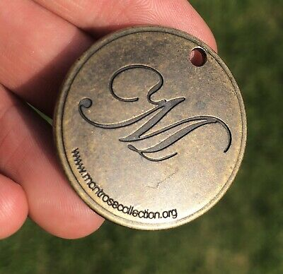 M Antique Style Bronze Dog Tag Engraved Personalised Monogrammed With Initial M
