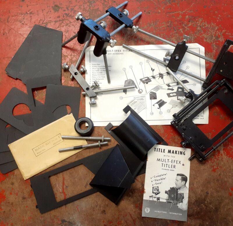 Mult-Efex Titler Standard Model Bardwell McAlister Hollywood 8mm 16mm Film