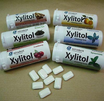 zuckerfreie Kaugummis, 100% Xylit gesüsst, Zahnpflegekaugummi miradent, zantomed