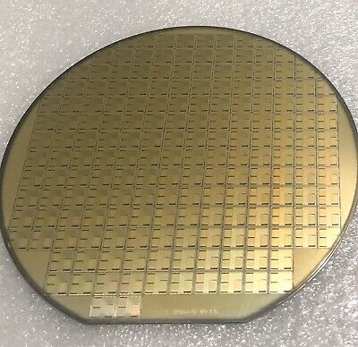 6 Silicon Wafer T.i. Memory Dies. Vintage 1995