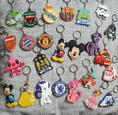 SILICONE KEYRING disney mickey mouse football stitch keychain star wars KEYRINGS