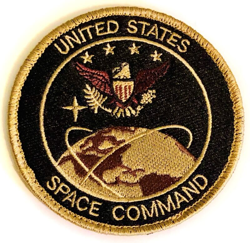 "US SPACE FORCE PATCH 3.5"" Hook & Loop Back Military Department Of The Air Force"