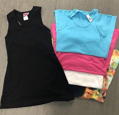 110 PC LOT NEW GIRLS RACERBACK TUNIC DRESSES SIZES 2-14 ASST COLORS