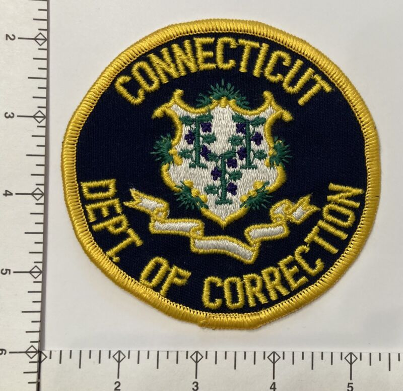 Vintage Connecticut CT Dept of Corrections Police Patch