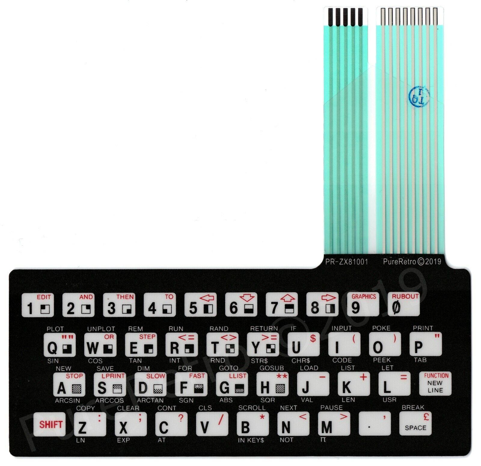  Sinclair ZX81 / Timex 1000 Keyboard Membrane High…
