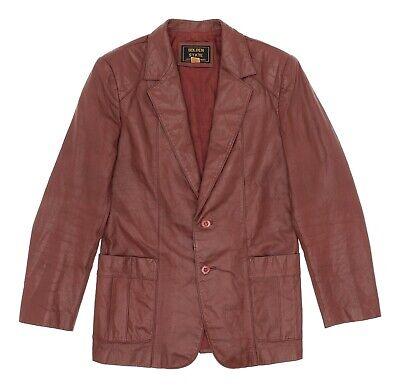 Vintage GOLDEN STATE Leather Jacket S Small Mens Vtg ROCKABILLY Western Blazer