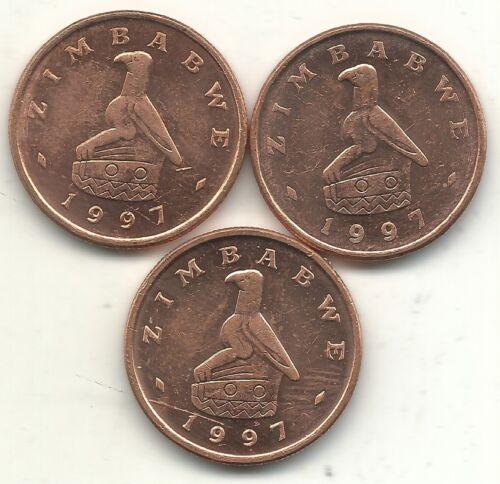 HIGH GRADE UNC LOT OF 3 1983 ZIMBABWE ONE 1 CENT COINS-JUN629
