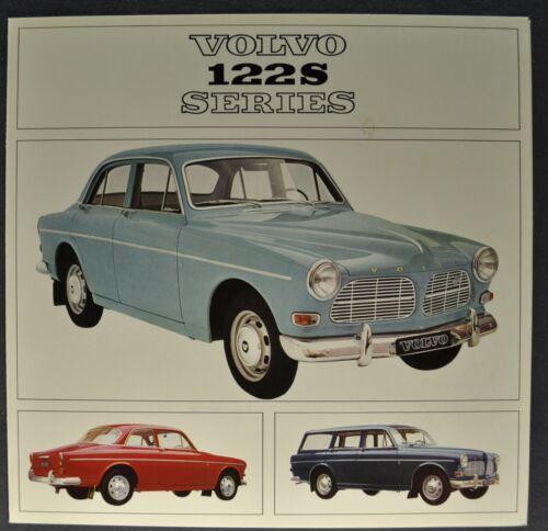 1965 Volvo 122S Brochure Folder Sedan Wagon B18D Excellent Original 65