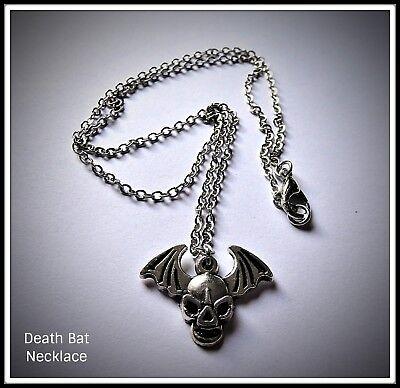 Death Bat Skull Necklace,Wings,Horror,Halloween,Skeleton,Gift Idea,Unisex](Horror Halloween Ideas)