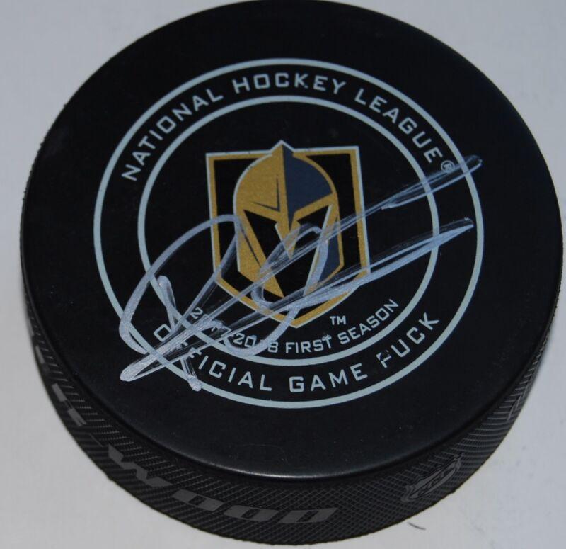 ERIK BRANNSTROM signed (LAS VEGAS GOLDEN KNIGHTS) game hockey puck W/COA