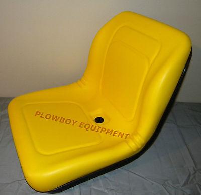 Yellow Vinyl High Back Seat For John Deere Am107759 Am108058 Am121752 Am126149