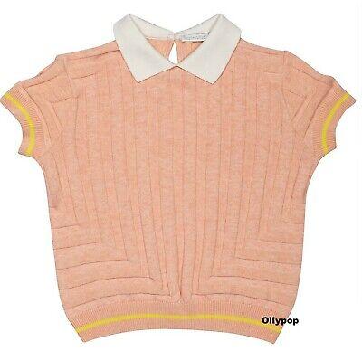 new Girls Raspberry Plum Knitted Organic cotton top sz 9-10 yr European designer