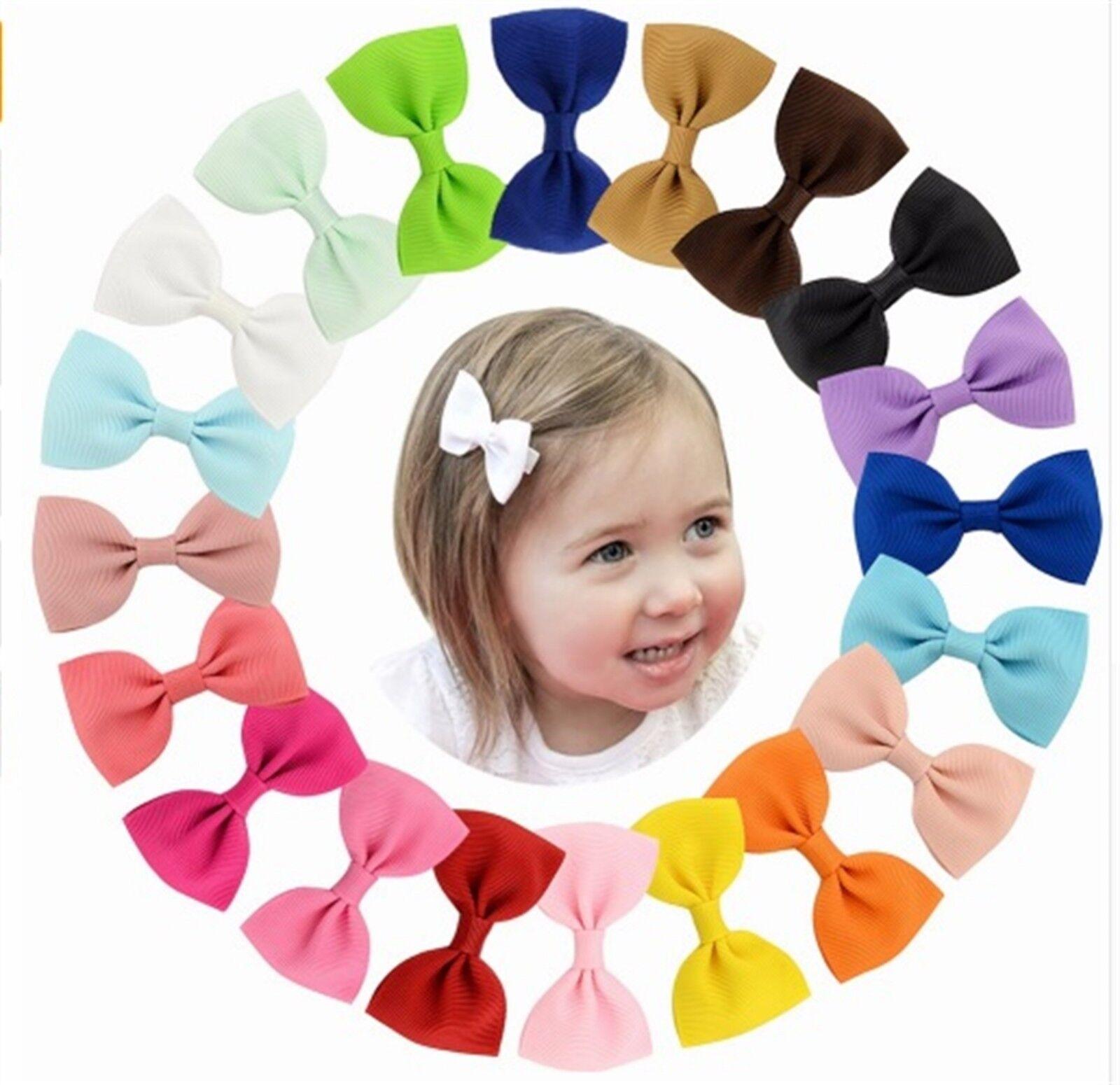 Baby Mädchen Schleife Satin Haarspange Haarschmuck Haarklammer Haarschleife