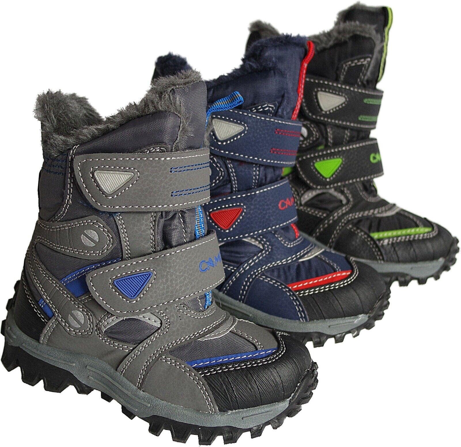 Jungen Kinder Winter Schuhe Stiefel Boots warm gefüttert Gr.25 - 36  Nr.5013/14