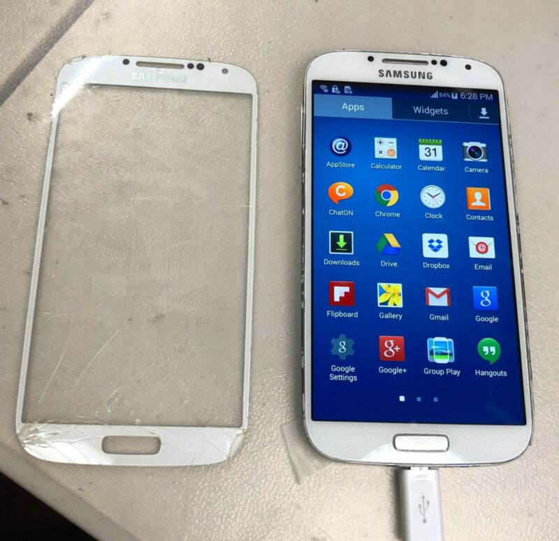 Samsung Galaxy S4 Cracked Screen Glass Repair Replacement Mail In Service