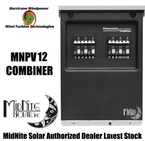 MIDNITE SOLAR MNPV12 PV COMBINER BOX FOR SOLAR PANEL WIND TURBINE WIND GENERATOR