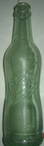 1920s Pepsi Cola Bottle Aqua Green Peanut Hour Glass old vintage antique