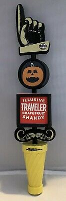 Halloween Themed Beer (The Traveler Beer Co. Tap Handle Fall Halloween Themed With Advertising)