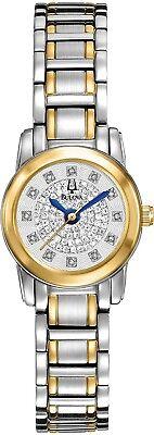 Bulova Women's 98P133 Highbridge Quartz Diamond Accents Two-Tone 20mm Watch