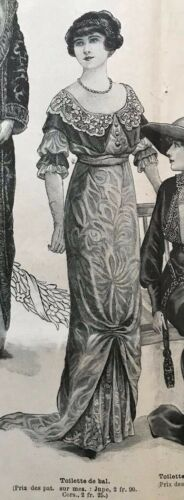 Edwardian MODE ILLUSTREE  Dec 1st & Dec 8, 1912+ sewing PATTERN sheet