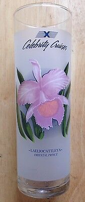 Celebrity Cruises Cruise Ship Oriental Prince Orchid Frosted Highball Glass