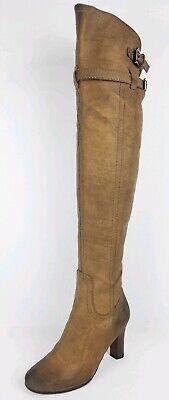 - Sam Edelman S  Sutton  Womens Brown Thick Leather Thigh-High Boots Sz 6