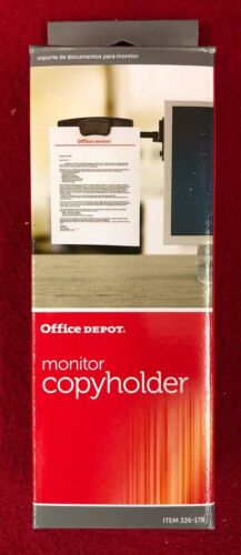 Brand New Office Depot® Brand Monitor Mount Copy Holder Black - Free Shipping!
