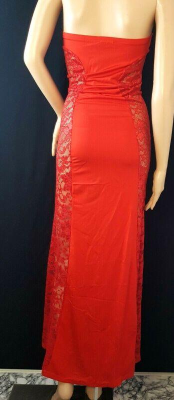 Sexy - Kleid Spitze - Lang - Erotik - Einheitsgröße - Rot ...