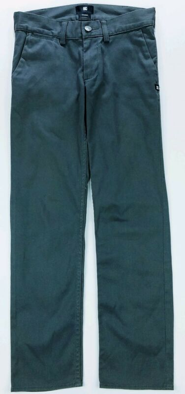 DC Shoes Youth Boys Gray Straight Pants Size 25