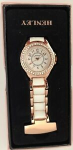 Henley Glamour Crystal Rose Gold Beautician Nurses Doctors Fob Watch HF06.44