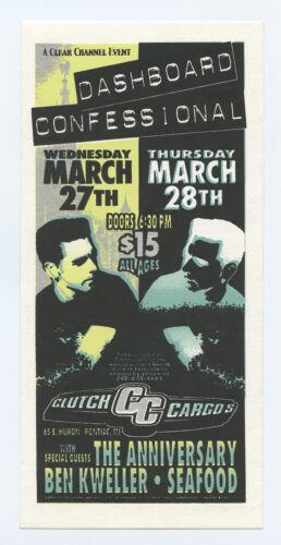 Dashboard Confessional Handbill 2002 Mar 27 Pontiac