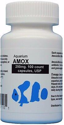 Fish Mox  Aquarium Amox  250Mg  100 Count  Usp Antibiotic Water Treatment