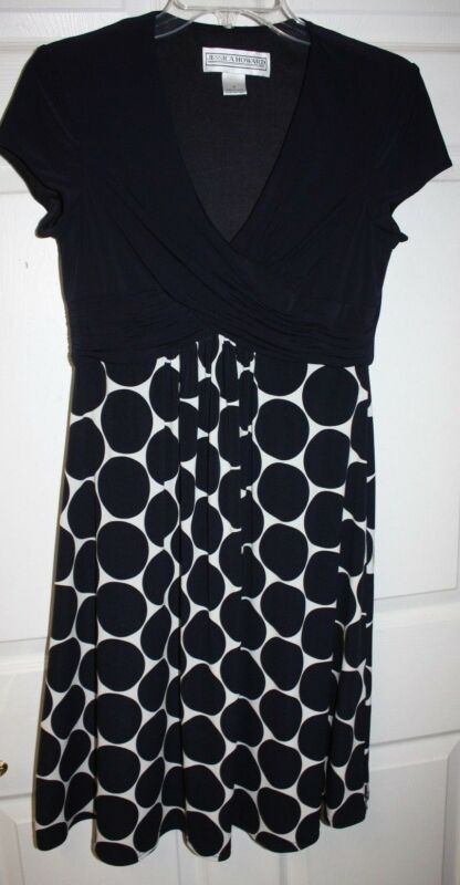 Womens Ladies Jessica Howard Navy Blue Geometric Dress Size 6