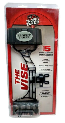 Trophy Taker The Vise 5 Arrow Quiver Black Quick Detach L or R hand Light Weight