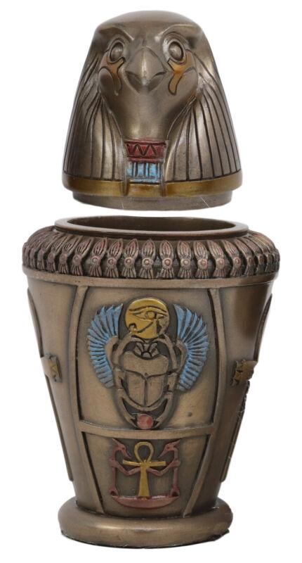 "Ebros Egyptian Qebehsenuef Canopic Jar Urn 5.75""H"